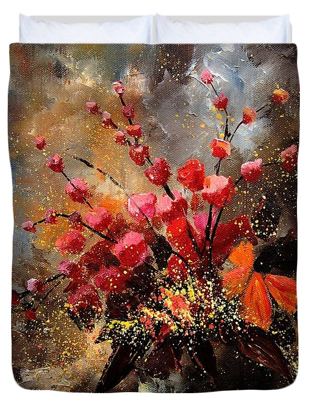 Poppies Duvet Cover featuring the painting Bunch 1207 by Pol Ledent
