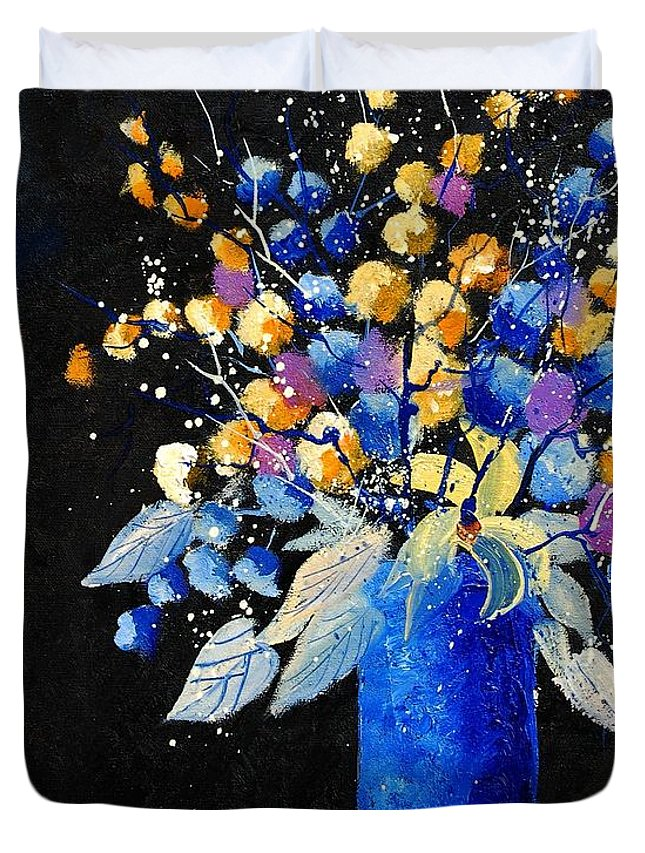 Flowers Duvet Cover featuring the painting Bunch 451008 by Pol Ledent