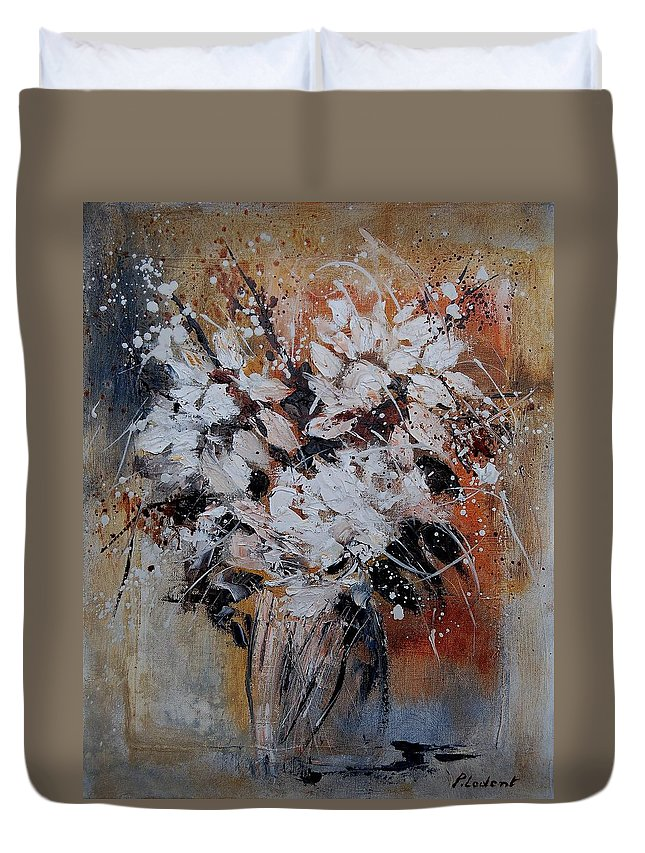 Flowers Duvet Cover featuring the painting Bunch 45900140 by Pol Ledent