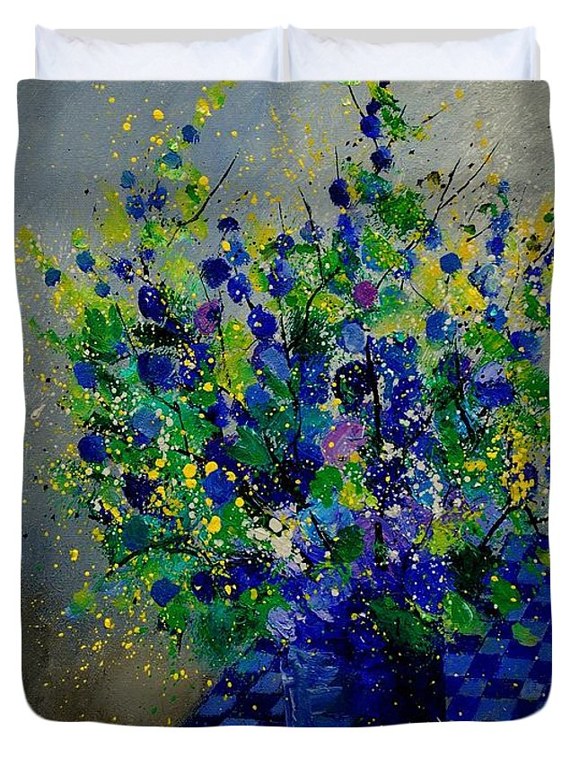 Flowers Duvet Cover featuring the painting Bunch 9020 by Pol Ledent