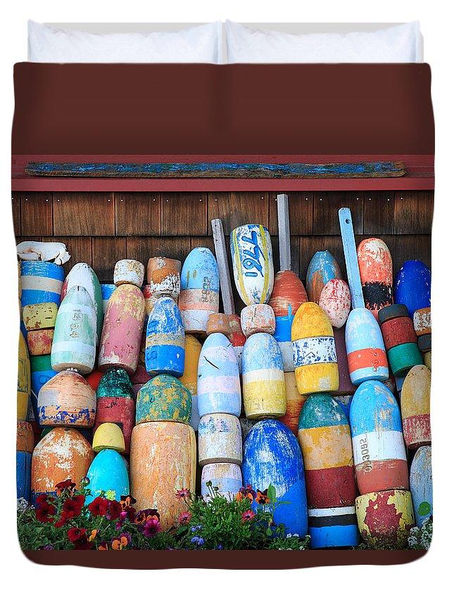 Cape Neddick Duvet Cover featuring the photograph Buoys by Emmanuel Panagiotakis