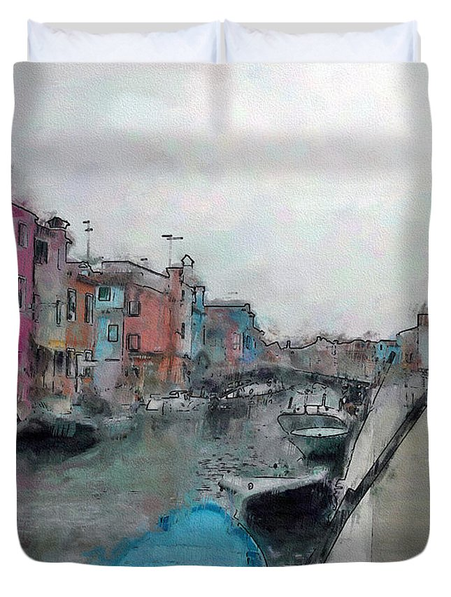 Ebsq Duvet Cover featuring the photograph Burano by Dee Flouton