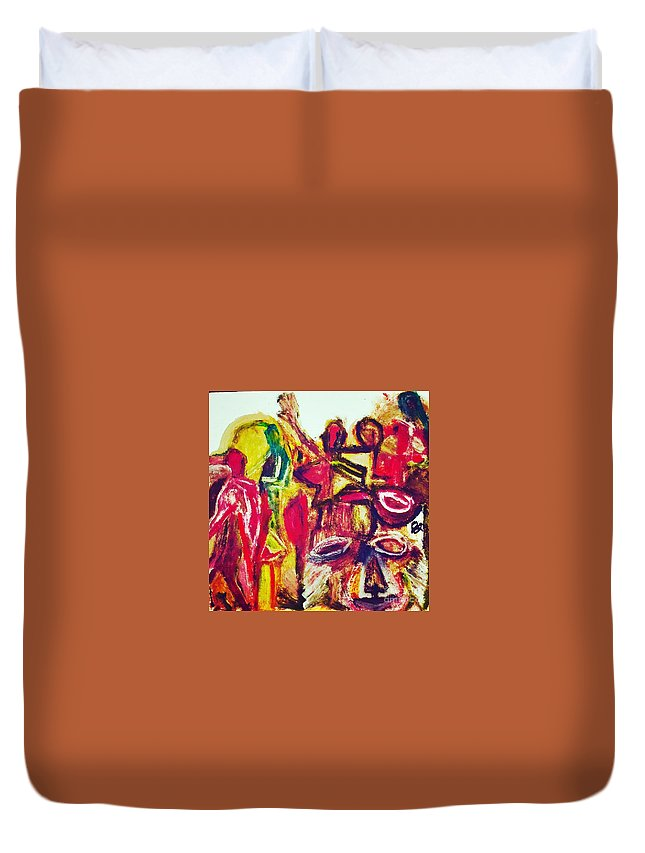 Cat Duvet Cover featuring the painting Burbary Cat by Jonathan Jaeger