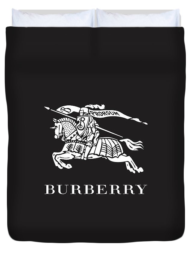 Burberry Duvet Cover featuring the digital art Burberry - Black And White - Lifestyle And Fashion by TUSCAN Afternoon