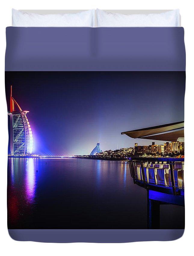 Al Duvet Cover featuring the photograph Burj Al Arab In Dubai, United Arab Emirates by Alexandre Rotenberg