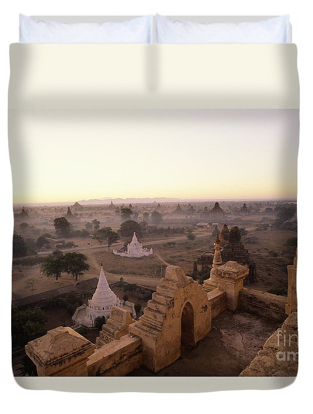 Afternoon Duvet Cover featuring the photograph Burma Landscape by William Waterfall - Printscapes