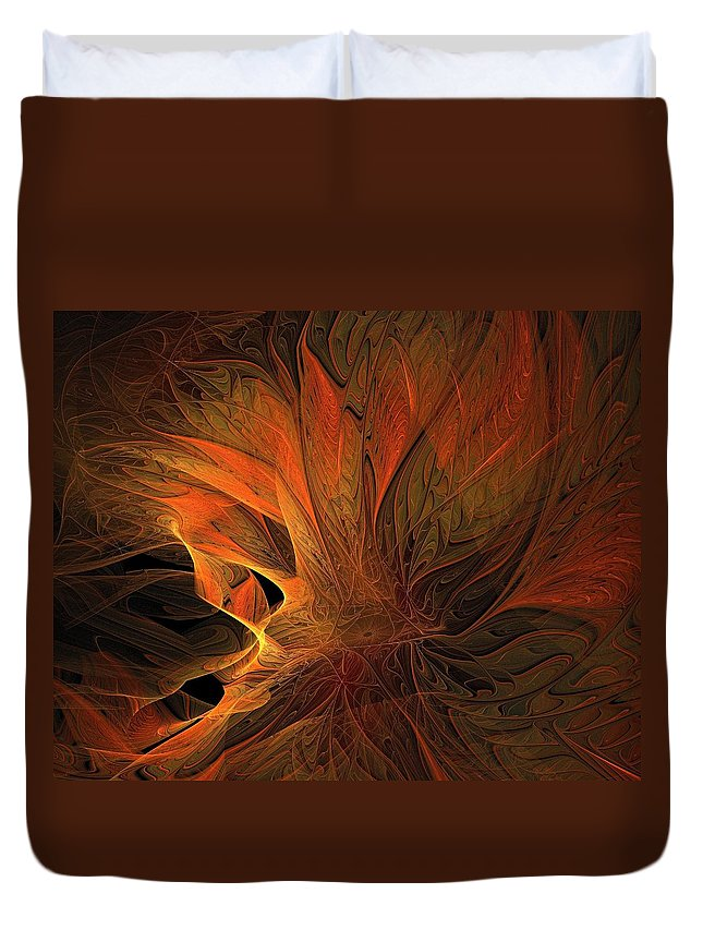 Digital Art Duvet Cover featuring the digital art Burn by Amanda Moore