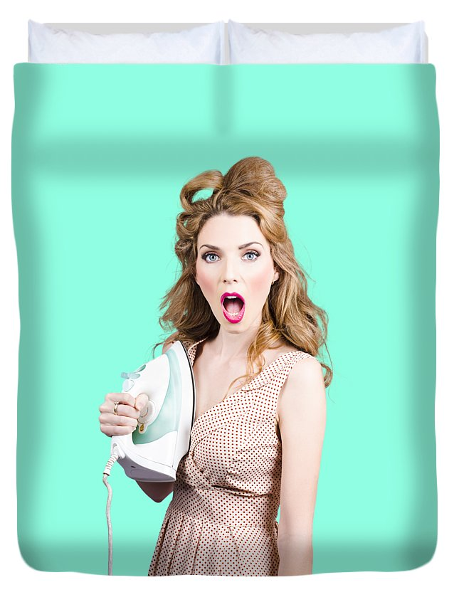 Laundry Duvet Cover featuring the photograph Burning Hot Fashion by Jorgo Photography - Wall Art Gallery