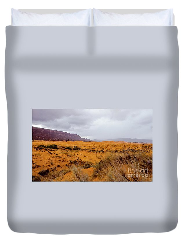Paria Duvet Cover featuring the photograph Burnt Earth by Jerry Sellers