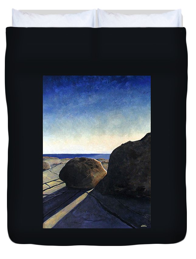 The Burren Duvet Cover featuring the painting Burren by Martine Murphy