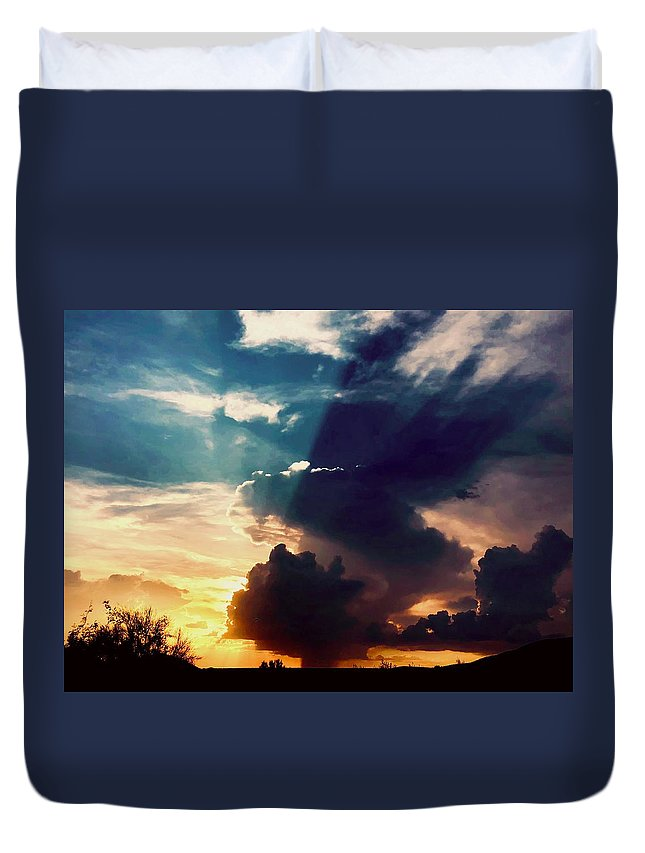 Duvet Cover featuring the photograph Burst by Joy Elizabeth