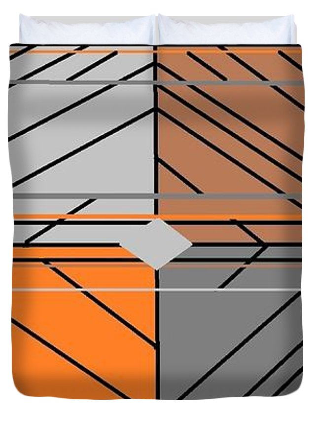 Burst Of Orange 3 Duvet Cover For Sale By Linda Velasquez