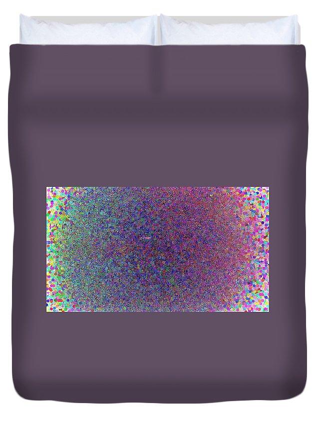 Confetti Duvet Cover featuring the digital art Bursting Confetti by April Patterson