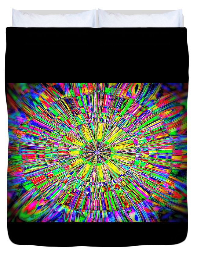 Abstract. Pop Art Duvet Cover featuring the photograph Bursting With Pride by Kathy Bucari