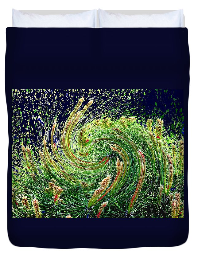 Pine Duvet Cover featuring the photograph Bush In Transition by Ian MacDonald