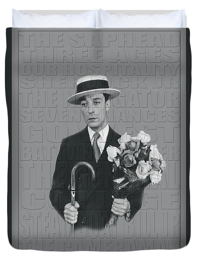 Buster Keaton Duvet Cover featuring the photograph Buster Keaton by Andrew Fare