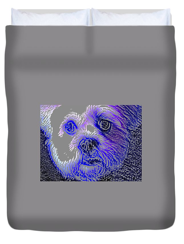 Dog Duvet Cover featuring the photograph Buster Photo by Wayne Potrafka