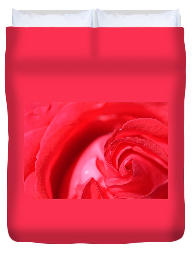 Rose Duvet Cover featuring the photograph Butler Rose by Michael McGowan