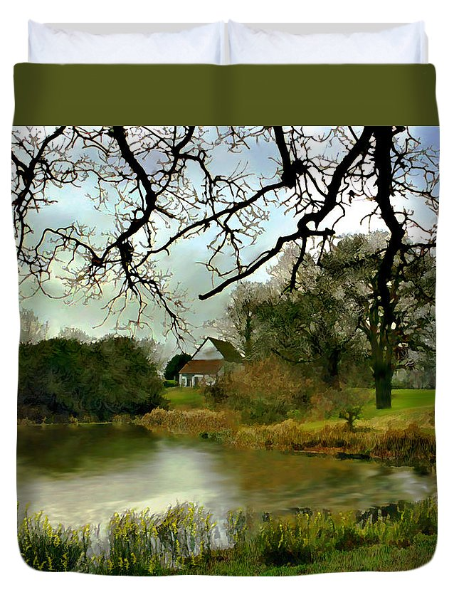 England Duvet Cover featuring the photograph Butlers Retreat Epping Forest Uk by Kurt Van Wagner