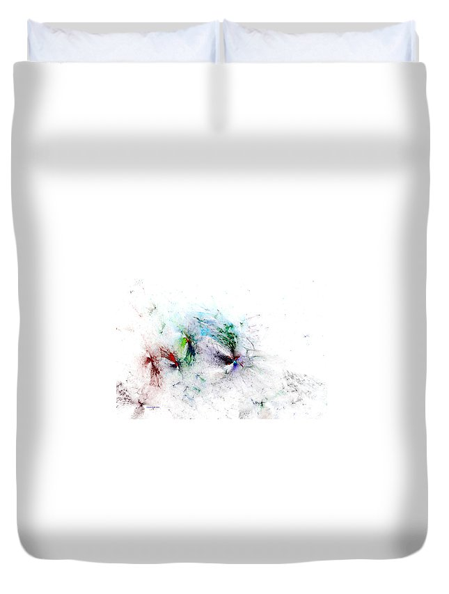 Digital Duvet Cover featuring the digital art Butterflies Are Free by Claire Bull