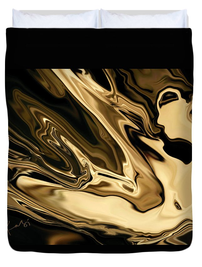 Abstract Duvet Cover featuring the digital art Butterfly Girl 3 by Rabi Khan