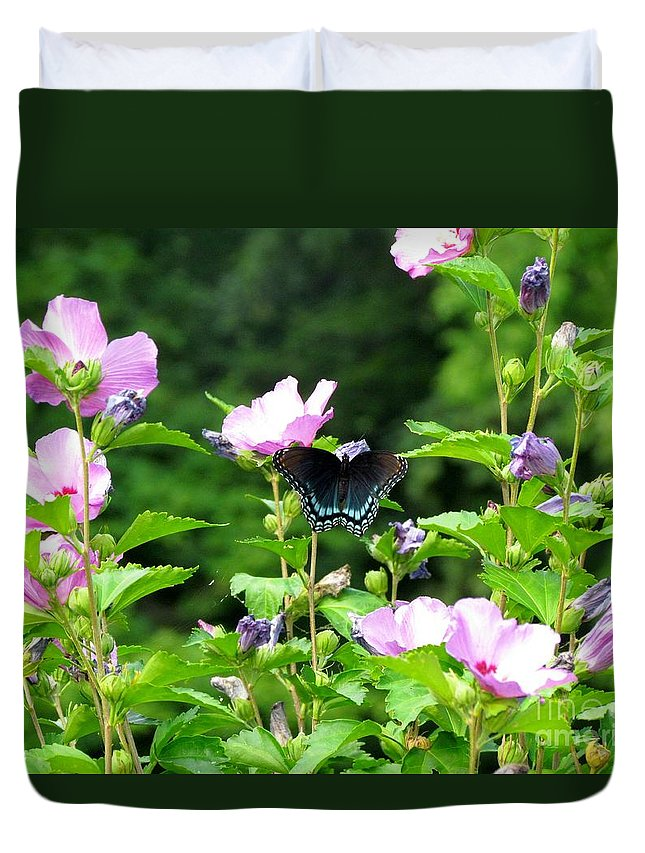 Duvet Cover featuring the photograph Butterfly by James Seitzinger