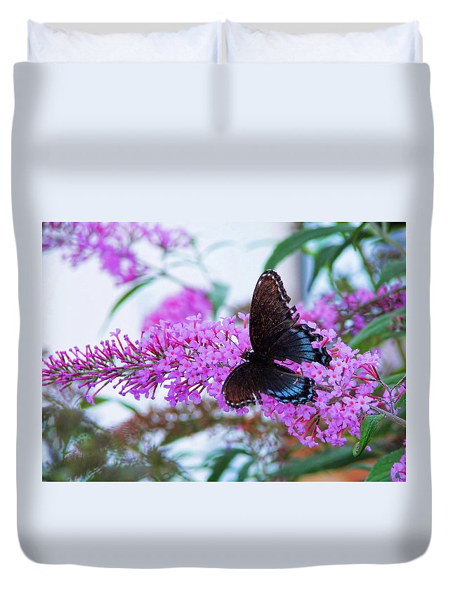 Butterfly Duvet Cover featuring the photograph Butterfly Kisses by JAMART Photography