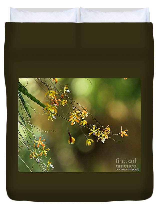 Butterfly Orchid Duvet Cover featuring the photograph Butterfly Orchid by Barbara Bowen