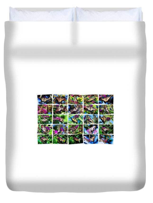 Butterflies Duvet Cover featuring the photograph Butterfly Plethora II by Gary Adkins