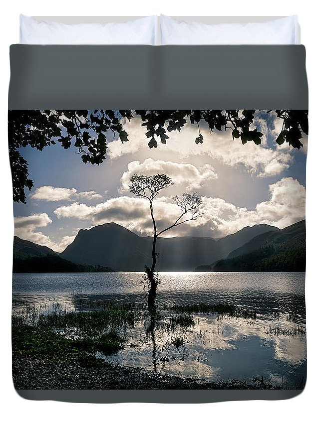 Buttermere Duvet Cover featuring the photograph Buttermere Tree by Graham Moore