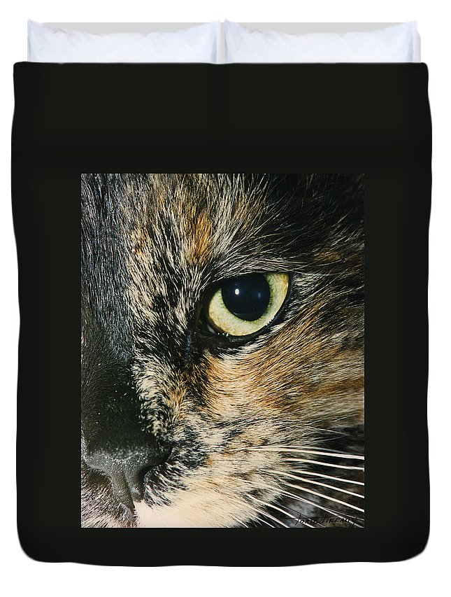 Faunagraphs Duvet Cover featuring the photograph C3 Ubie by Torie Tiffany
