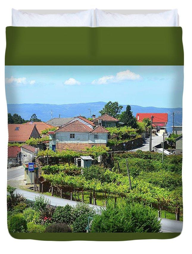 Portugal Duvet Cover featuring the photograph Cabana Maior by Victoria Cerqueira