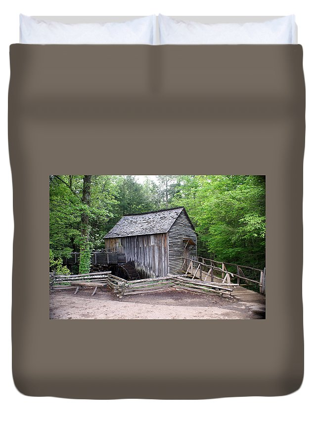 Cable Mill Duvet Cover featuring the photograph Cable Mill by Marty Koch
