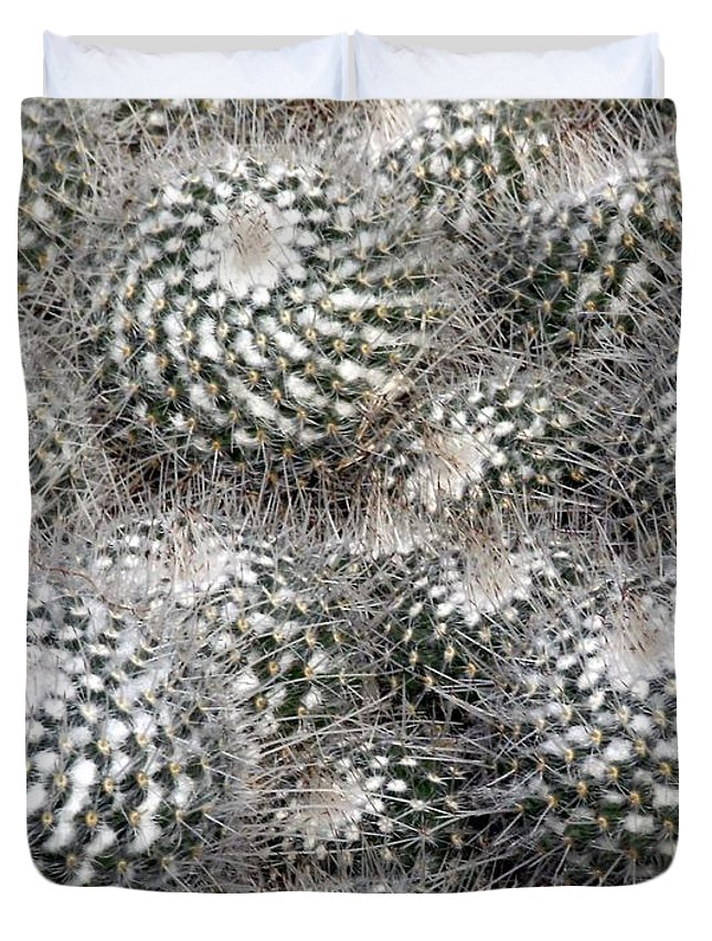 Cactus Duvet Cover featuring the photograph Cactus by Mindy Newman