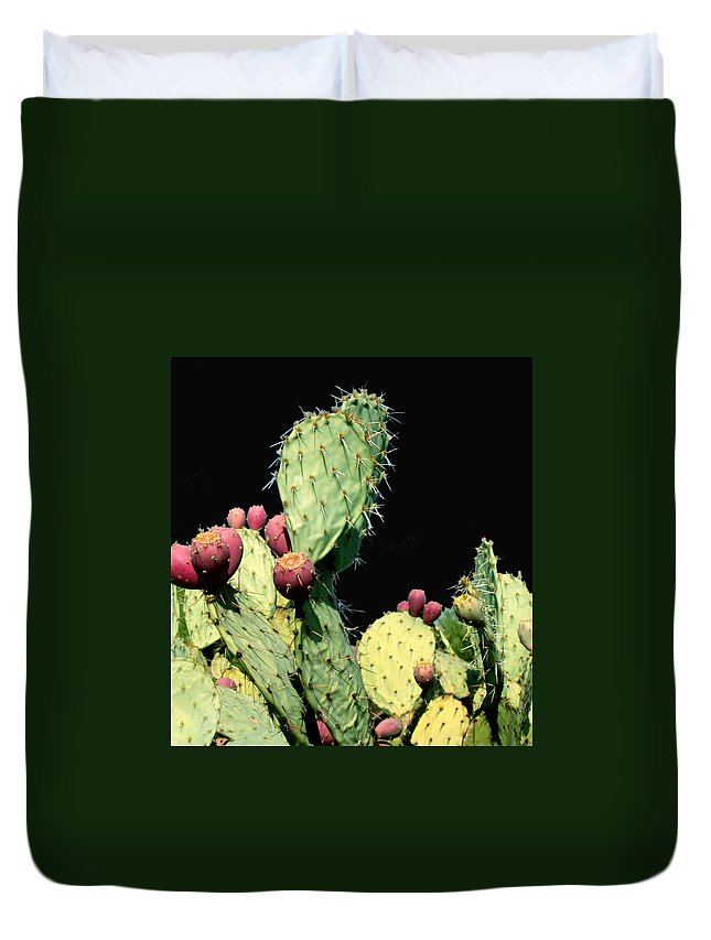 Cactus Duvet Cover featuring the photograph Cactus Two by Wayne Potrafka