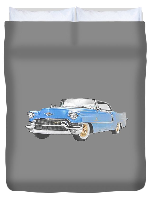 Duvet Cover featuring the painting Caddy T-shirt by Herb Strobino