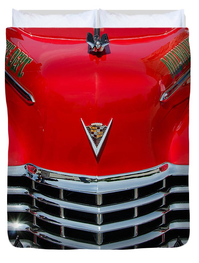 1947 Cadillac Duvet Cover featuring the photograph Cadillac Ambulance by Susan McMenamin