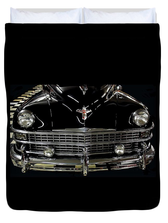 Cadillac Duvet Cover featuring the photograph Cadillac Classic by Rosanne Jordan