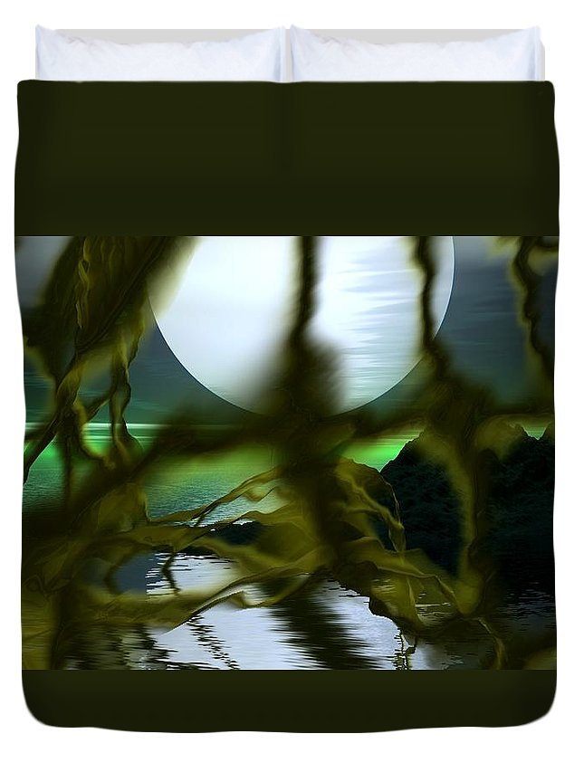 Si-fi Duvet Cover featuring the digital art Caged by David Lane