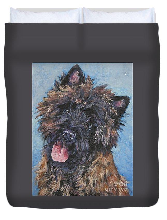 Cairn Terrier Brindle Duvet Cover