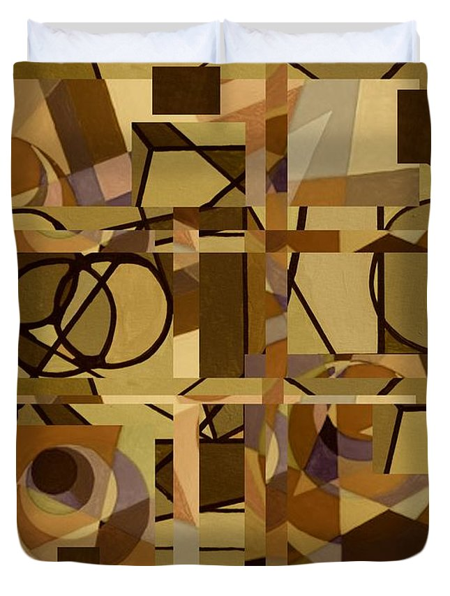 Abstract Duvet Cover featuring the digital art Calamity by Paul Larson