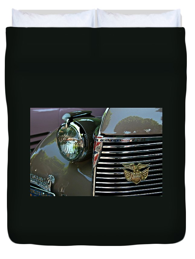 Chevy Duvet Cover featuring the photograph California Chevy Classic by Gwyn Newcombe
