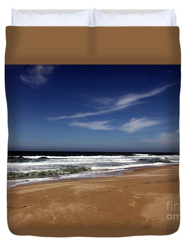 scott Creek Beach Duvet Cover featuring the photograph California Coast by Amanda Barcon