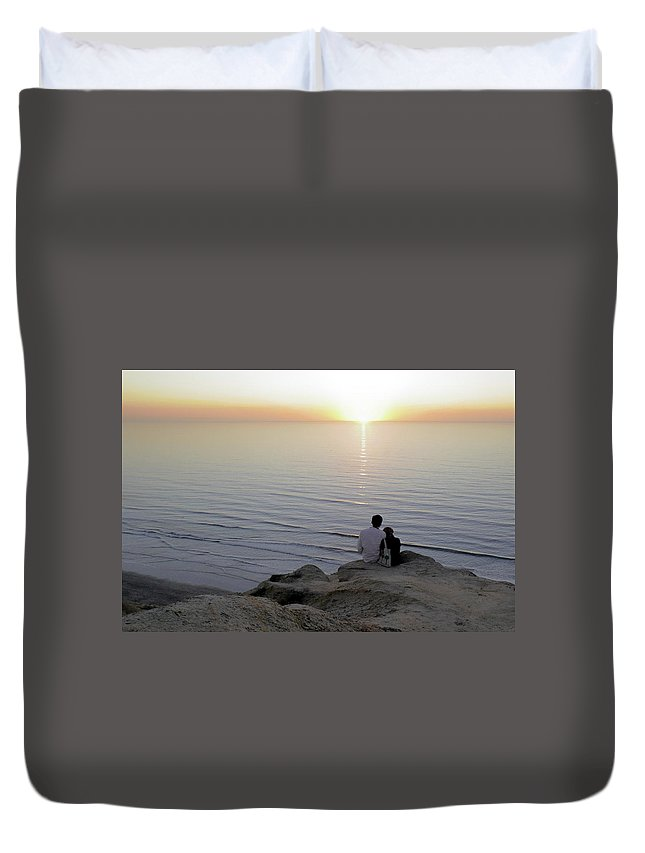 Pacific Duvet Cover featuring the photograph California Dreaming by Christine Till