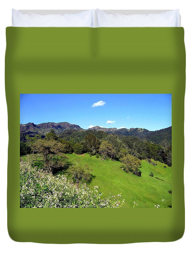 California Duvet Cover featuring the photograph California Highlands by Will Borden