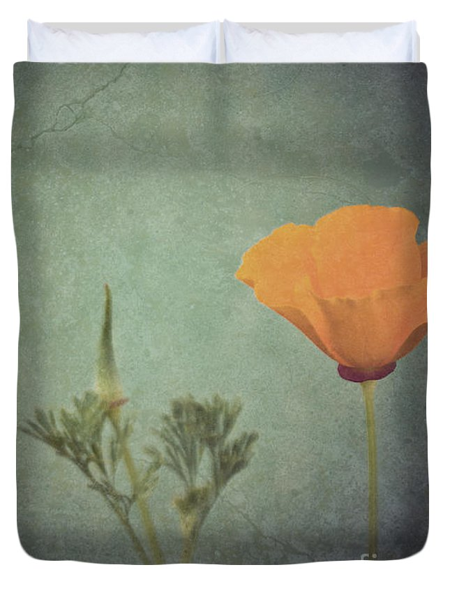 California Duvet Cover featuring the photograph California Poppy by Cindy Garber Iverson