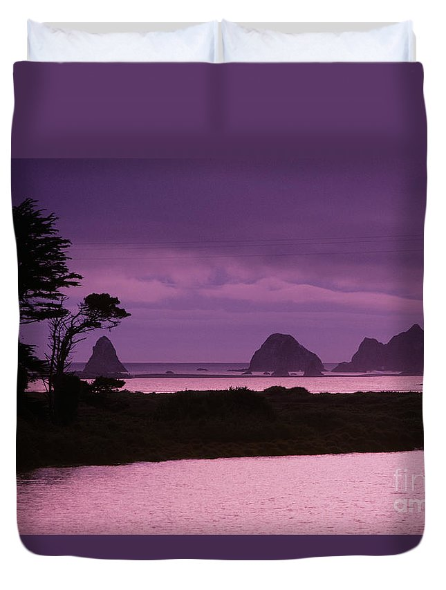 Beach Duvet Cover featuring the photograph California, Sonoma Coast by Larry Dale Gordon - Printscapes