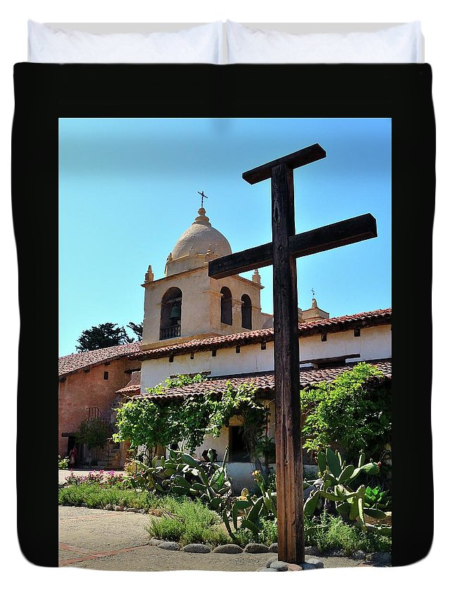 Spanish Mission Duvet Cover featuring the photograph California Spanish Mission by Michael Wirmel