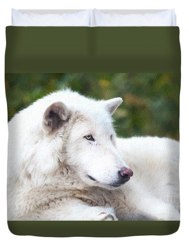Call Of The Wild Duvet Cover featuring the photograph Call Of The Wild by David Millenheft