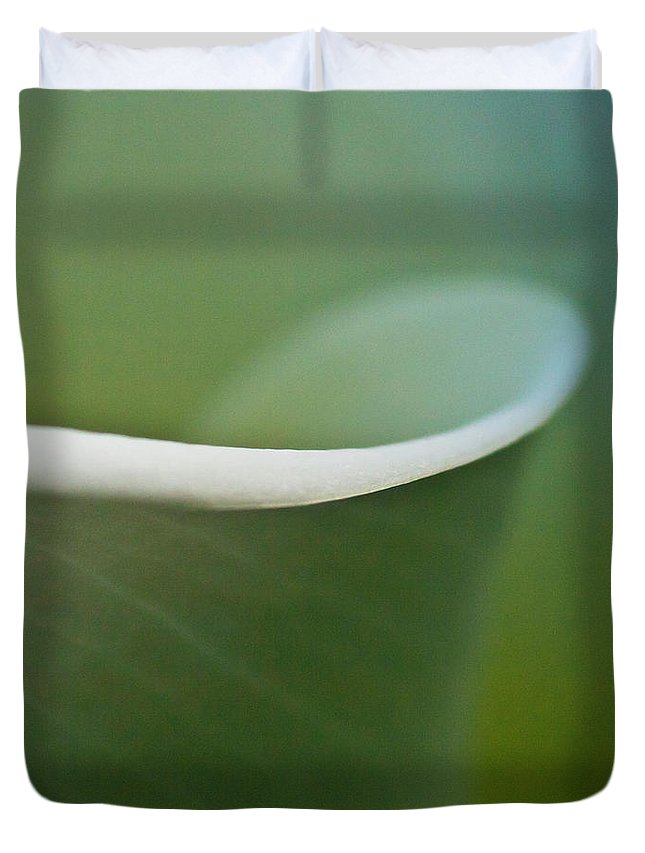 Calla Duvet Cover featuring the photograph Calla Details 2 by Heiko Koehrer-Wagner